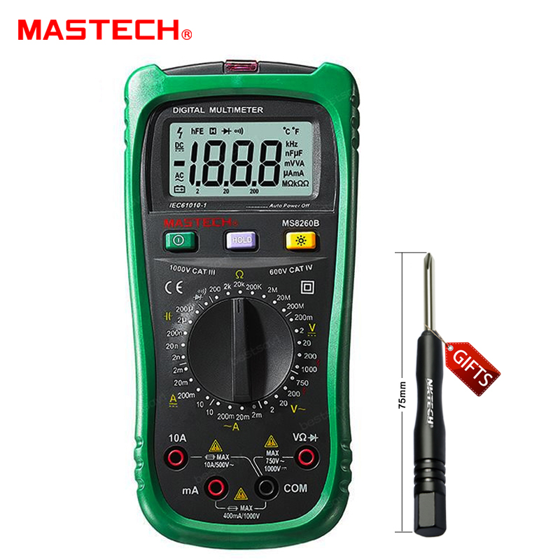 Mastech MS8260B Digital Multimeter DMM VOLT STICK Tester Electrical LCR Meter Non-contact voltage Detector<br>