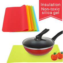 Durable Silicone Place Mats Heat Resistant Non Slip Table Mats Soft Waterproof Fadeless Table Mats kitchen Accessiories