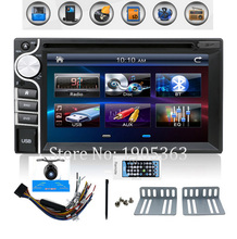 100% New universal Car Radio Double 2 din Car DVD Player In dash Car PC Stereo Head Unit video car parking camera HD