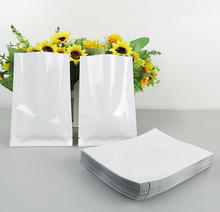 Size:9*13CM white Heat Seal bags,small plastic bags for food,Heat Seal Aluminum Foil Bag Cooking Bags(China)