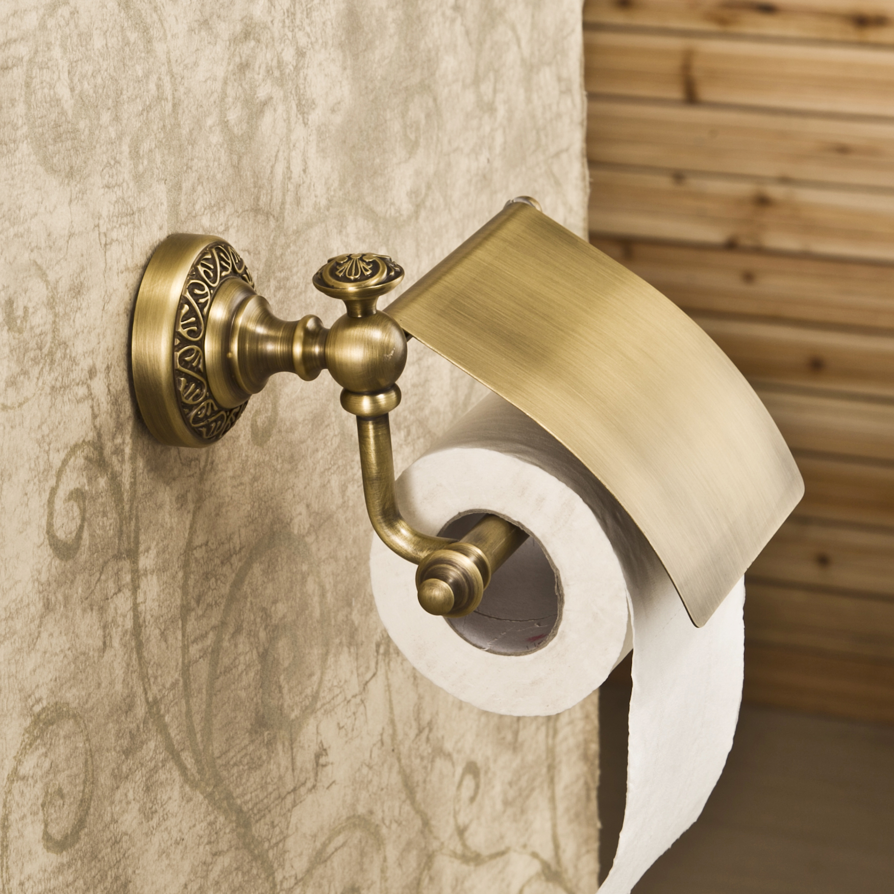 Wall Mounted Antique Copper Toilet Paper Holder With Cover Bathroom Holder <br><br>Aliexpress