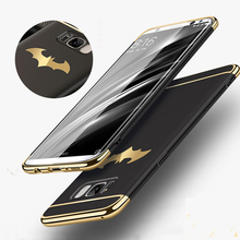 New Luxury Batman Phone Case For Samsung Galaxy S8 / S8 Plus Coque PC Hard Back Cover Case For Samsung Galaxy S7/ S7 Edge Note 8(China)