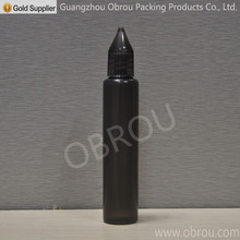 high quality perfumes bottle 39pcs 30ml black PE dropper bottles with screw cap long thin tip(China)