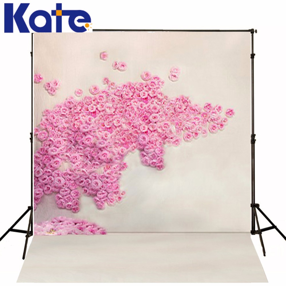 Kate Pink Flower 10x10ft Photography Background Children Custom Photo Backdrops Cotton Washable Backgrounds For Photo Studio<br>