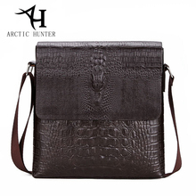 ARCTIC HUNTER Men Messenger bag male fashion small mens shoulder bags Crocodile pattern PU Leather Bag  Business crossbody