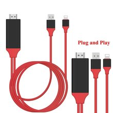 1080P Lightning to HDMI HDTV AV TV Adapter cable Airplay Mirroring display wire cord share for Ios iphone 7 6 6s 5 5S