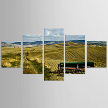 5 pieces framed Wall Art Picture Gift Home Decoration Canvas Print painting Harvest season scenery wholesale/NEW-QJFJ/1103