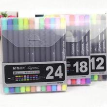 1Set Sketch Marker Pen Twin Tip Brush Art and Graphic Drawing Manga Illustrating Painting Tool School Stationery Office Supplies