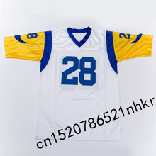 Retro star #28 Marshall Faulk Embroidered Name&Number Throwback Football Jersey(China)