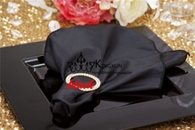 Black Color Satin Napkin \ Wedding Table Cloth Napkins