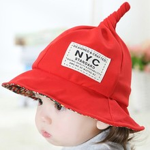 Baby hat spring and autumn child bucket hats summer sunscreen 1 - 2 years old child sun hat sunbonnet