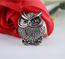 Free shipping -10 Sets Antique Silver Owl Rivet Studs Spots 3.5x2.8cm 7x3.5mm Bag Leather Clothes J1752