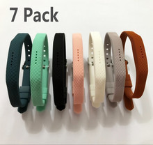 (7 Pack) Sport Silicone Replacement Wrist Band Strap Bracelet For Fitbit Flex 2 Smart Watch Wristband