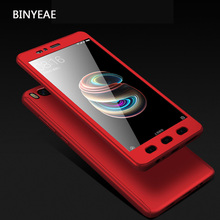 360 Full Body Protection Case For Xiaomi Mi A1 / 5X Hybrid Mobile Phone Cover Cases Xiomi Mi5x / Mia1 With Tempered Glass(China)