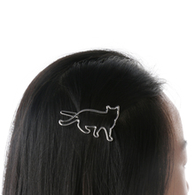 1 pcs Lovely Hair Clip Silver Gold Cat Shape Women Girls Hair Clip Clamp Fashion Jewelry Hair Accessories New Arrival(China)