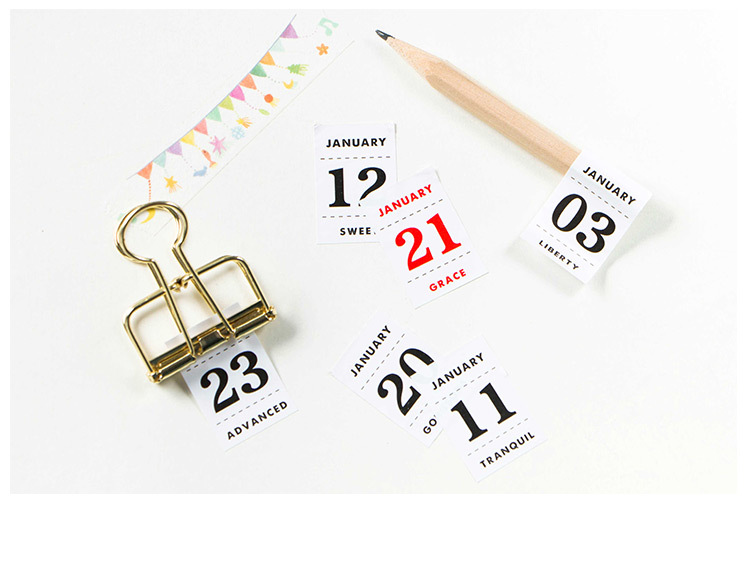 12 Sheets/lot Creative Perpetual Calendar Stickers Diary Album ...