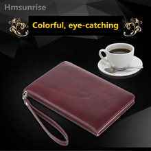 Hmsunrise Luxury leather case for apple new ipad 9.7 2017 tablet holder hand strap A1822 A1823 Hand Rope 9.7 inch Hand Strap(China)