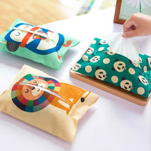 Cartoon cloth towel cover Winnie the Pooh Cute Home Car Tissue Case Box Container Towel Napkin Papers BAG Holder BOX Case Pouch(China)