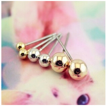 ea039 Korean version of who you inherit from the stars Three-piece ball earrings Fashion Jewelry Wholesale
