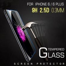 0.3mm 2.5D HD Premium Tempered Glass for iPhone 4 4S 5 5s 5se 6 6s plus for iPod Touch 4 5 6 Screen Protector 9H Film Guard