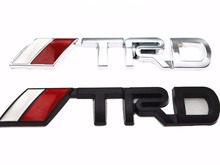 New 3D Chrome TRD Racing Development Logo Metal Emblem Badge Car Styling Decal for Toyota Car Tail Door Head Car Sticker