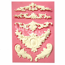 M0526 European relief lace mold fondant cake molds soap chocolate mould for the kitchen baking