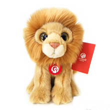 19cm Simulation Lion Plush Toys Wild Animal Stuffed Toys Baby Lion Plush Dolls Gifts For Children Free shipping