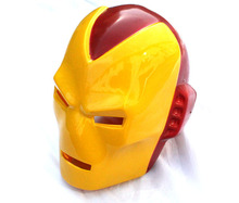 Free shipping ,halloween party PVC Plastic full face Avengers iron man mask Helmet(China)