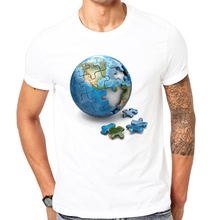 LEQEMAO 2017 Summer clothes men's t-shirt 3d print Jigsaw puzzle t-shirt tee tops can be customized Cool summer short-sleeved(China)