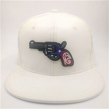 LDSLYJR leather Cartoon pistol Adjustable embroidery baseball cap hip-hop hat snapback cap for women and men 177