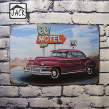Route 66 Motel 20x30cm Retro Tin Poster Metal Tin Signs Tin Plaque Tin Paintings Advertising Shop Bar Garage Wall Decor(China)