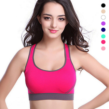 Hot Professional Women Sports Bras Lady Yoga Running Fitness Quick-drying Underwear Training Dancing Shockproof Color Vest Women