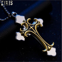 ZIRIS Fashion Jewellery Classical cross necklace crucifix pendant stainless steel women men necklace(China)