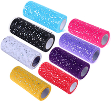 Buy 25 yards 15cm Glitter Sequin Tulle Roll Spool Tutu Wedding Decoration Tulle Rolls Organza Gauze Element Table Runner Mariage for $2.98 in AliExpress store
