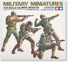TAMIYA 1/35 scale models 35013 US Army Infantry Operations Group