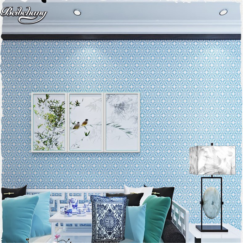 beibehang Chinese living room bedroom TV background wallpaper environmental non - woven study full of moisture - proof wallpaper<br>
