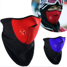 New cycling equipment face mask styles masks protect wind cold dust mountain bike equip Half Face Mask cotton red blue black