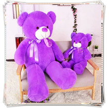 Giant teddy bear Purple bear spongebob kawaii plush kids toys life size teddy bear soft toys dolls valentine day gifts(China)