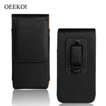 OEEKOI Belt Clip PU Leather Waist Holder Flip Cover Pouch Case for Oysters Pacific E/Pacific 4G/SF/Pacific VS/V/454/800i 5 Inch(China)