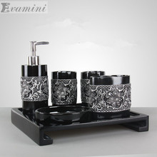 HOT!!!Bathroom set resin bathroom sets of five/six pieces bathroom toiletries kit bathroom accessories