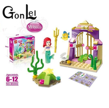 GonLeI Fairy Tale little Mermaid Ariel Amazing Treasures Building Block Princess Christmas gift toys girls gift L918