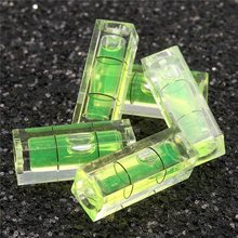 High Quality 5Pcs/Lot 10*10*29mm Square Level Bubble PMMA Material Acrylic Shell Bubble Spirit Level Leveler Vial Specification