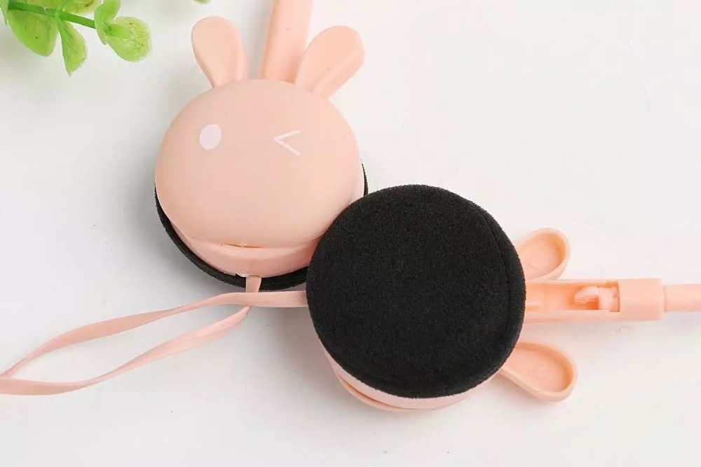 Wire Headphones Cute Cartoon Rabbit Candy Colour 3.5mm Stereo Headphone with Mic for Samsung Xiaomi mp3 Kids Student Birthday Gifts (17)
