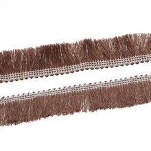 Hoomall 5M Brown Ribbon Lace Fringed Cotton Garment Accessories Handmade Sew On Decorative Crafts 25mm