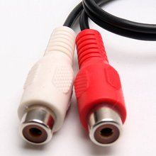 Professional 3.5mm stereo adapter headphone jack to 2 RCA jack adapter audio cable, 3.5mm Male to 2x RCA Female adapter