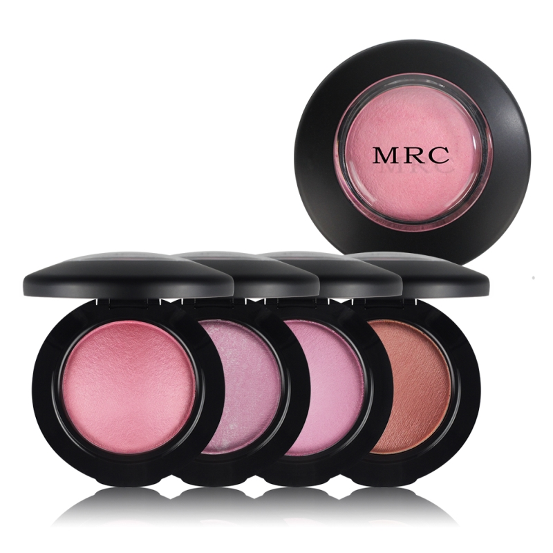 MRC Face Blush Powder Palette Long Lasting Soft and Smooth Mineral Baked Blush Powder Professional Brand Blush Makeup 4 Colors(China (Mainland))