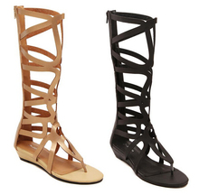 women sandals 2015 Crystal Around Women Gladiator Sandal women Boots 2015 New Arrive Snake Flat Women Summer Shoes Free shipping