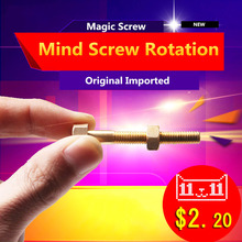 Magic Tricks Mind Nut Off Bolt Screw Close-Up Micro Psychic Super Ultimate Shocked Rotating Magia High Quality Puzzle Toy(China)