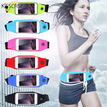 KISSCASE Sports Running Waist Bag Case For iPhone 7 6 6S Plus Bags For Samsung S6 S7 S8 A5 J5 J7 2016 Cover Pocket Pouch