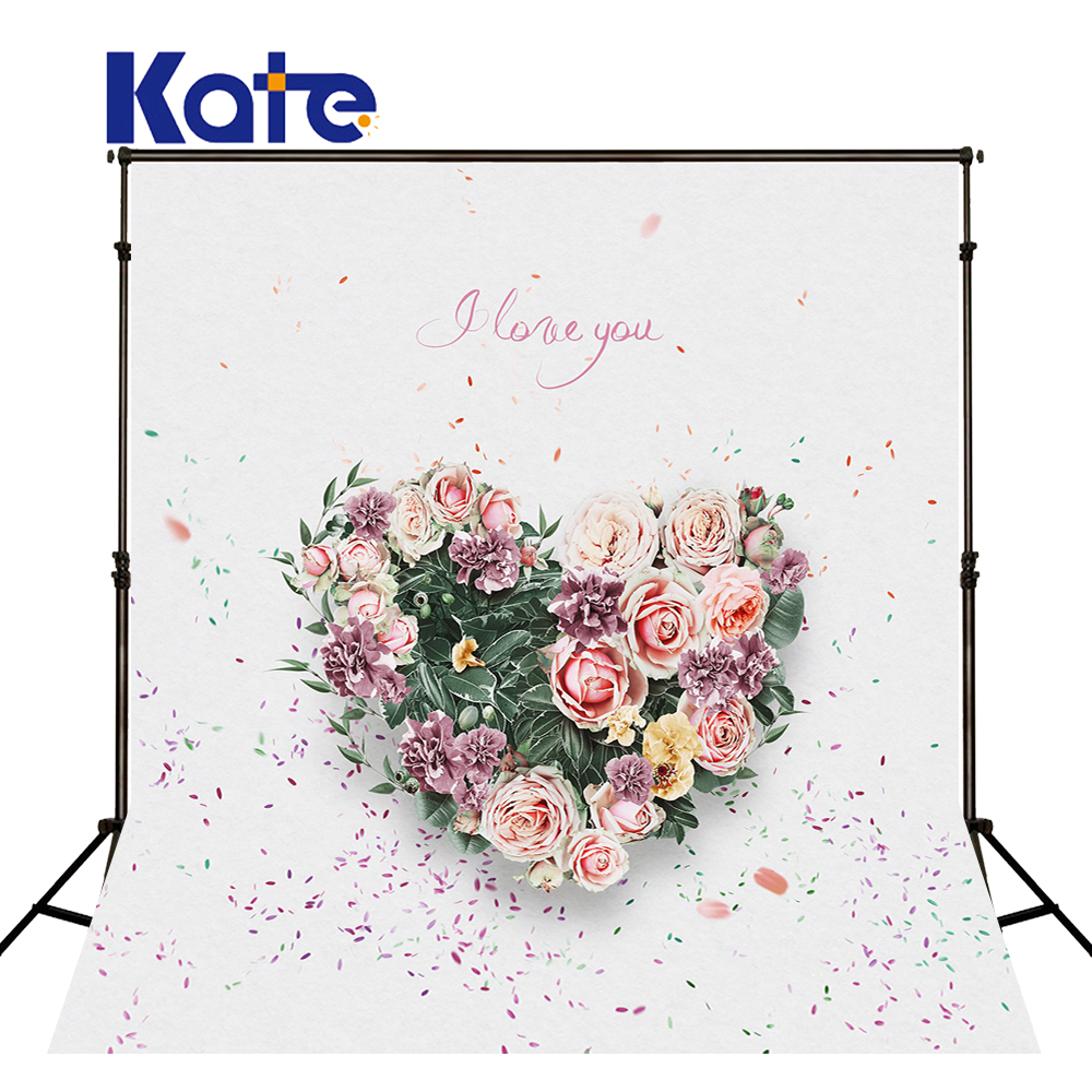 5*6.5Ft Kate  Backdrops Vinilos  Love Bright Backgrounds Thick Cloth Backdrops  Photography Fondos For ValentineS Day Mr-0060<br>